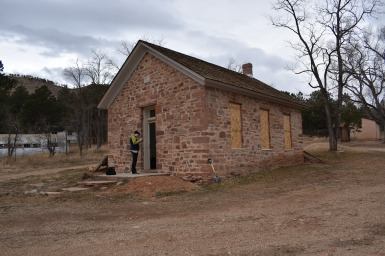 Altona Schoolhouse following removal of residential additions